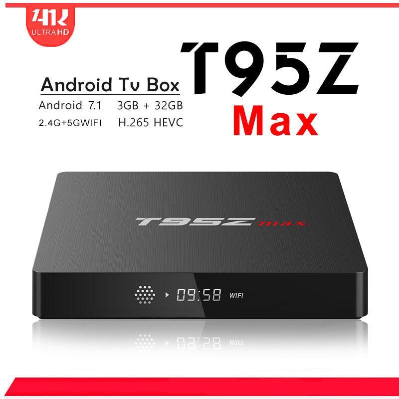 New T95Z MAX Octa Core Amlogic S912 iptv tv box Dual band WiFi Bluetooth Media Player Android 7.1 Smart TV Box PK PLUS