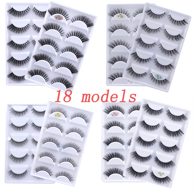 50 boxes 3D Mink Hair Natural Cross False Eyelashes Long Messy Makeup Fake Eye Lashes Extension
