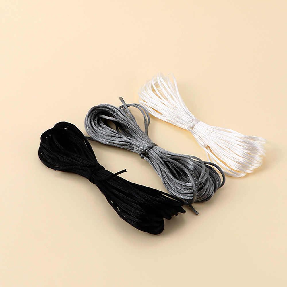 1 قطعة الطفل عضاضة اكسسوارات 10 m الحرير الحرير حبل 2 مللي متر النايلون الحبل للطفل أمي صنع المجوهرات التسنين قلادة Rattail الحبل