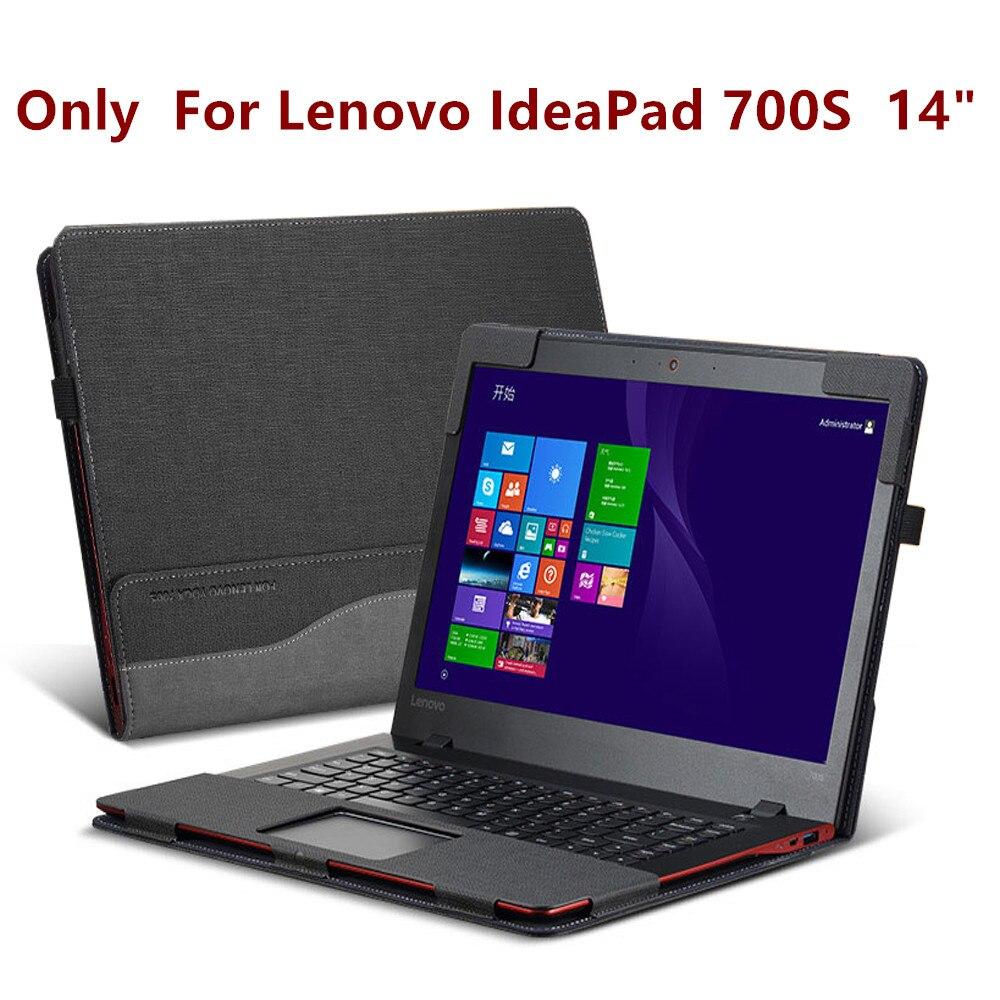Housse détachable pour Lenovo IdeaPad 700 S 14 pouces pochette pour ordinateur portable étui en cuir PU peau de protection stylet comme cadeau