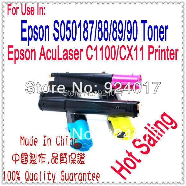 For Epson Aculaser C1100 C1100N CX11 CX11N CX11NF C100 C100N C21N C21NF Toner For Epson S050187