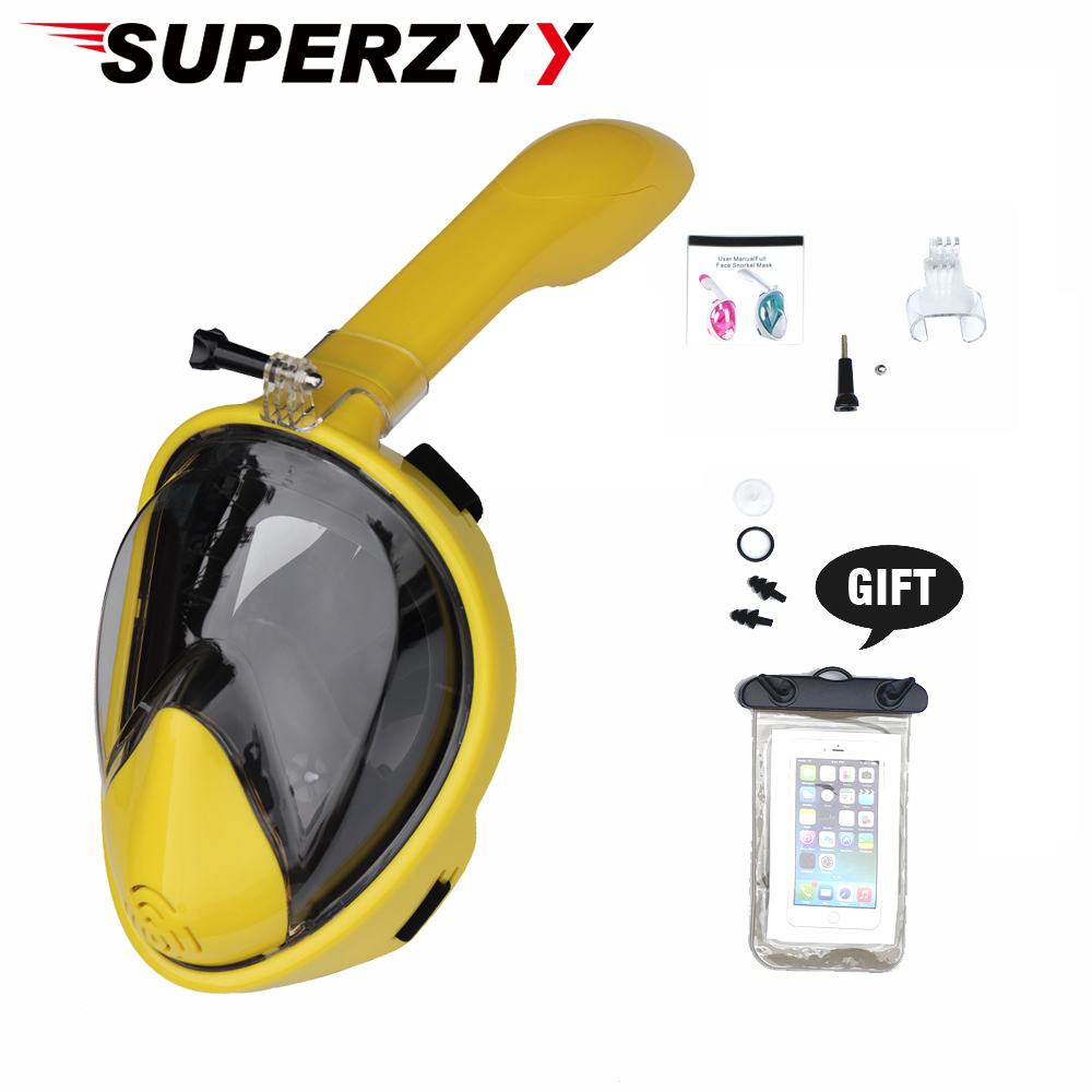 Full Face Snorkel Mask 180 Panoramic View Easybreath Snorkeling Mask Anti-Fog Anti-Leak Underwater Diving Equipment For Kids