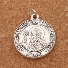 Saint St Benedict Patron Medal Cross Charms Pendants T1657 28x24.5mm 7PCS Antique Silver Pendant