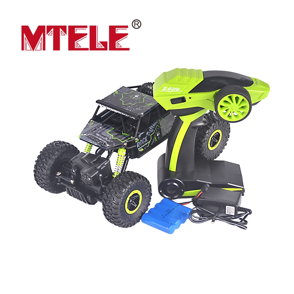 MTELE Brand Green RC Car 4WD 2.4GHz Rock Crawlers Rally Climbing Car 4×4 Double Motors Bigfoot Car Remote Control Model Off-Road