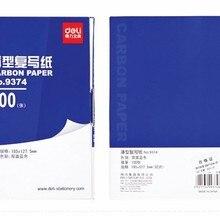 100 листа/уп наклейки для ногтей комплект копия копировальная бумага Двусторонняя 32 k, цвет синий, офисные школьные финансовых бумага для рисования