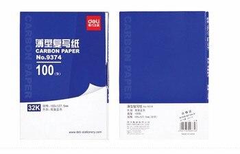 100 Fogli/set Copia Duplicazione Di Carta Carbone Carta Double Sided 32 K, Colore Blu Scuola Ufficio Finanziario Carta Pittura