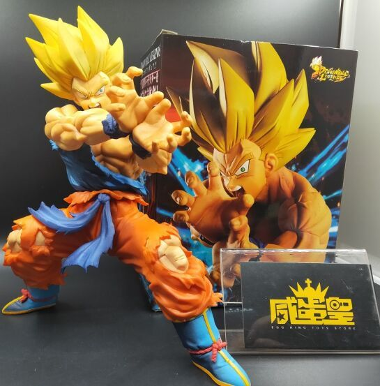 Original LG Goku BANPRESTO Dragon Ball Z Lendas COLLAB KAMEHAMEHA son goku Modelo de Brinquedo Brinquedos
