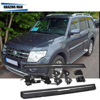Car Aluminium Automatic Scaling Electric Side Step Running Board Bar For 2007 2016 Pajero