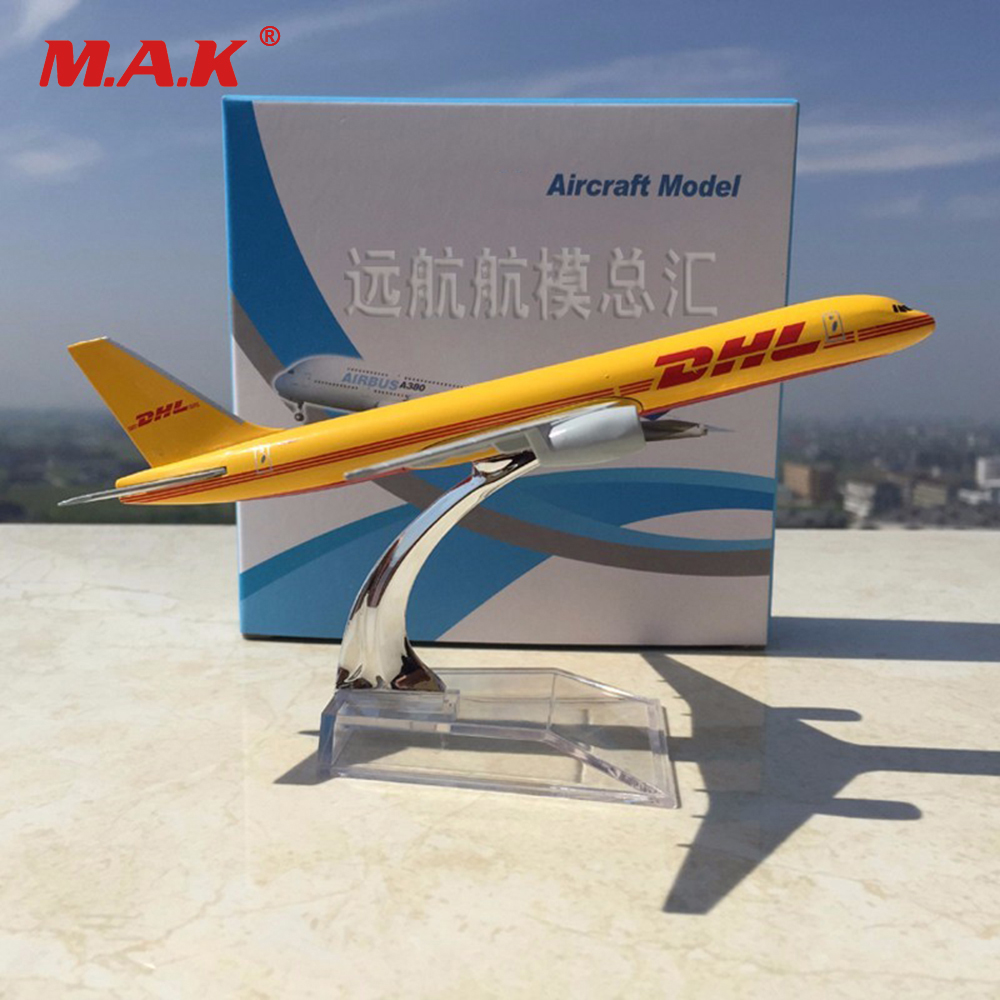Kid Airplane Model Toys 1:400 Scale Boeing 757-200 B757 DHL Express Delivery Airplane Model For Fans Children Gifts Toys
