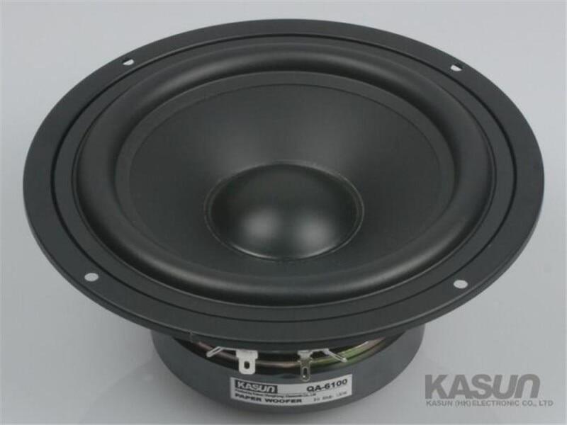 1pcs HI FI series woofer loudspeaker QA 6100 speakers 6 5 inch mid bass mid bass