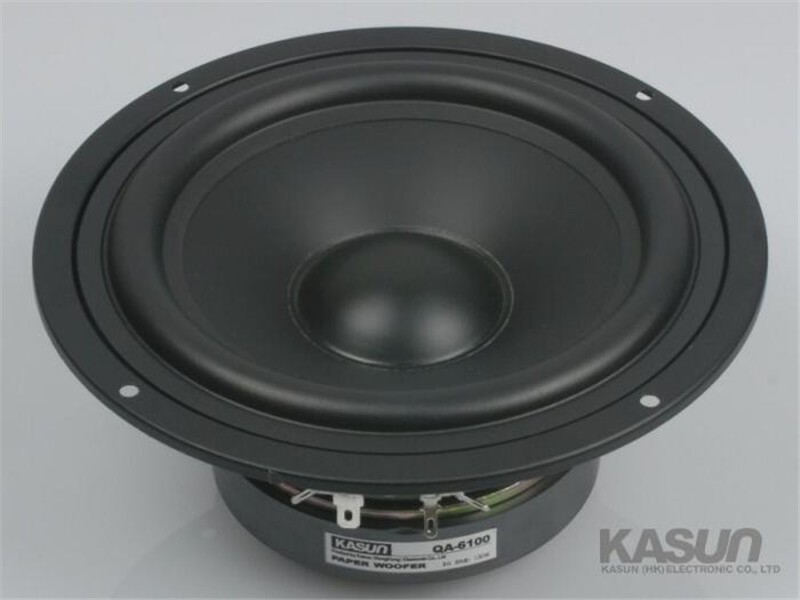 1pcs HI-FI series woofer loudspeaker QA-6100 6.5 inch mid-bass mid bass woofer speaker 130W 8 ohm for amplifier 1pcs hi fi series loudspeaker soft dome tweeter speaker acc 1366 3 inch 40w 6 ohm for amplifier tweeter loudspeaker