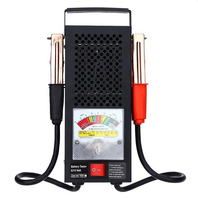 Universal T16594 Electromobile Tensão Equipamentos Ferramenta de Veículos Automotivos Testador de Carga Da Bateria 6 V 12 V Indicação Precisa