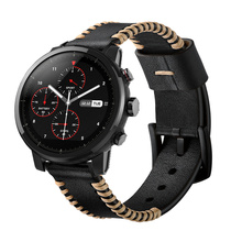 20 Ou 22mm linha Artesanal Genuína Banda De Relógio de Couro Cintas Para Engrenagem Samsung S3 Engrenagem Esporte S2 Huawei Assistir 2 Pro Huami relógio