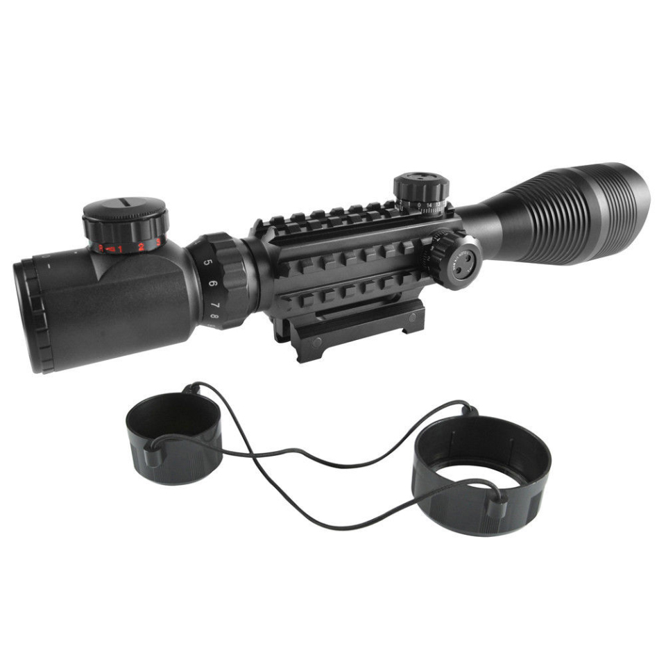 US $26 09 10% OFF|4 12*50YG Tactical Sniper Scope Riflescope with Red Green  Rangefinder Illuminated Reticle 20mm Mount for Hunting Gun Airsoft-in