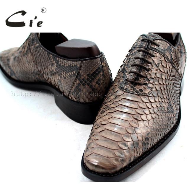 C'ie – Square Toe Handmade Python Skin upper, Calf Leather inner, Breathable Men's shoe