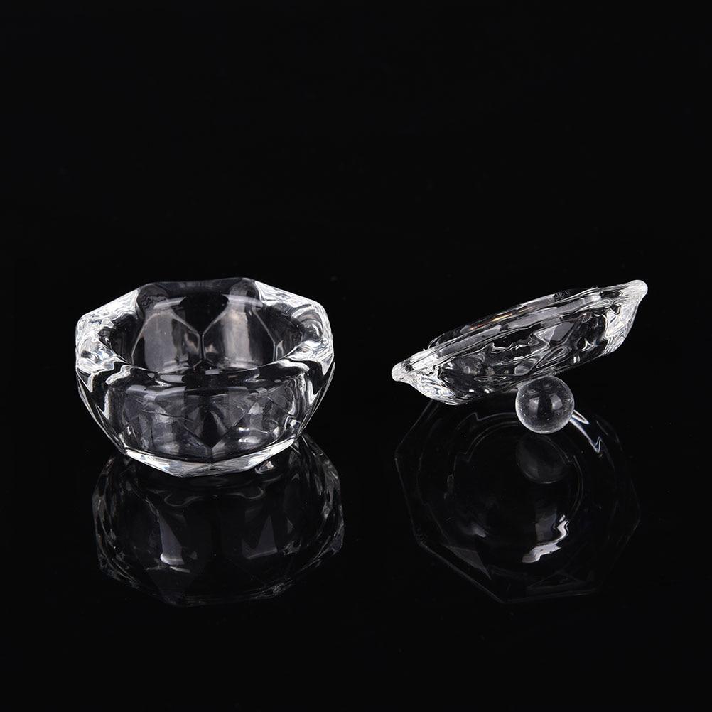 Hot 1Pc Beautiful Crystal Glass Nail Art Dappen Dish Cup Acrylic Liquid Makeup Powder Nail Styling Tool Equipment Tools in Nail Art Equipment from Beauty Health