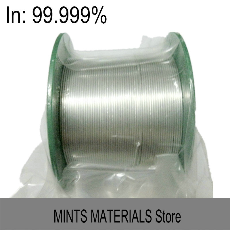 Indium 5N In Wire Dia. 1-3mm High Purity 99.999% 4 Research and Development Element Metal Simple Substance CAS#: 7440-74-6 эмаль пф 115 строитель глянцевая красная 0 9кг