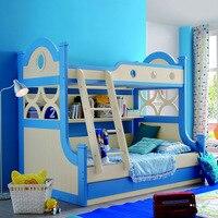 Деревянная мебель для детей на уровень для печатного стола картина двойная кровать детский деревянный заводской прямой продажи