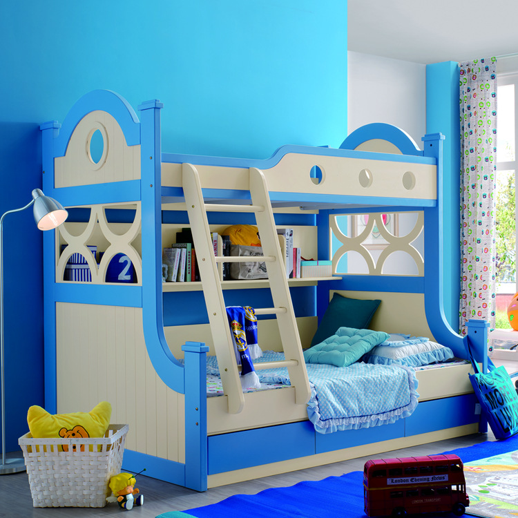 los muebles de madera de los nios en el nivel de la cama de imagen doble cama para nios de madera de los nios ventas directas