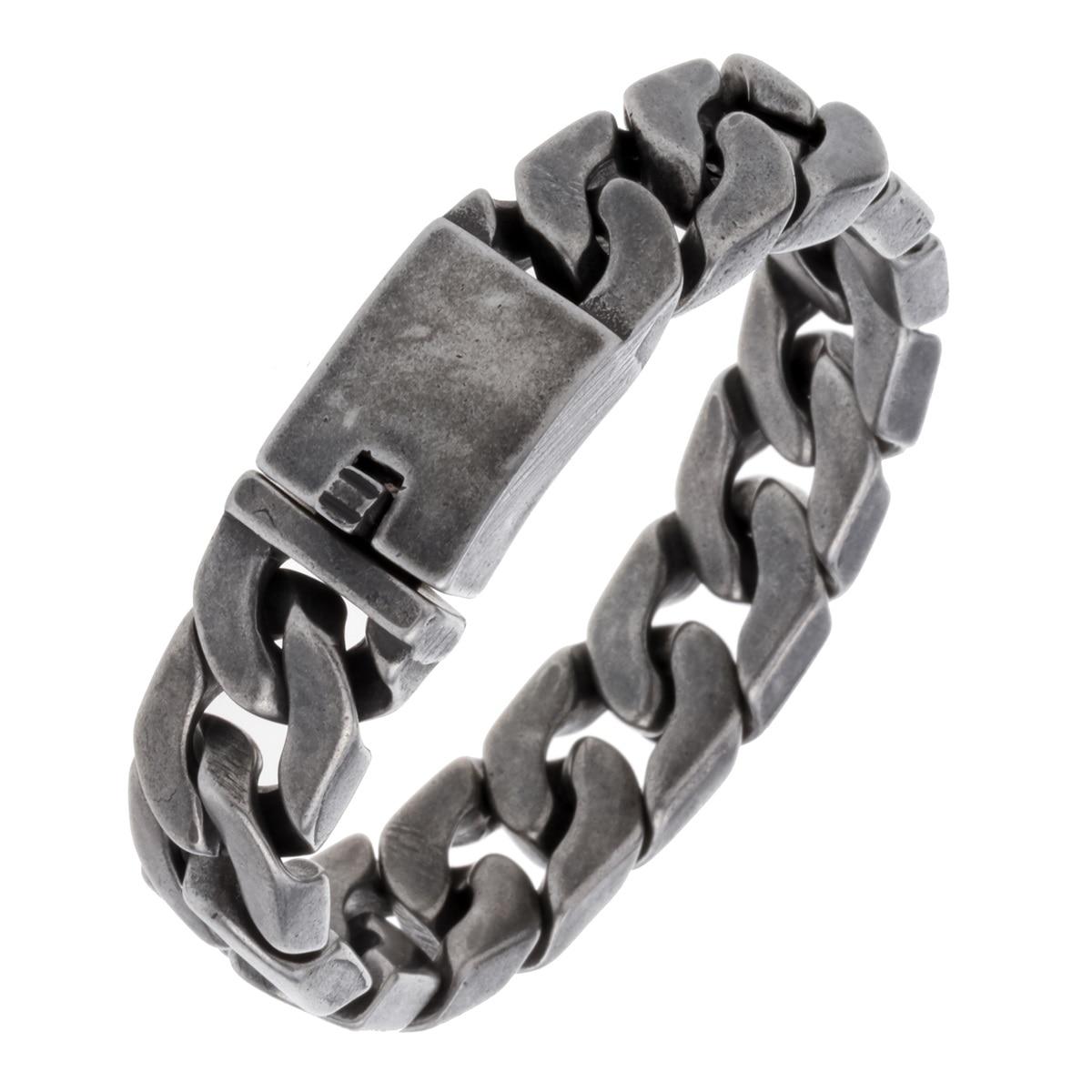 Mens Stainless Steel Link Chain Bracelet Biker Heavy