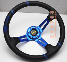 Free shipping 2014 hot new special modification athletics steering wheel / MOMO Racing Wheel / 14 inch PVC steering wheel