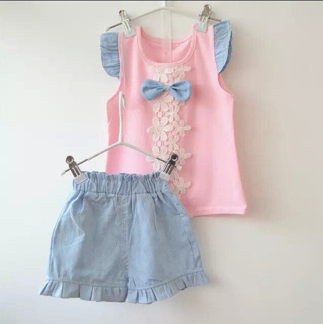 2016-new-fashion-baby-girls-summer-clothing-sets-kids-outfits-suit-children-flower-bow-T-shirt (1)
