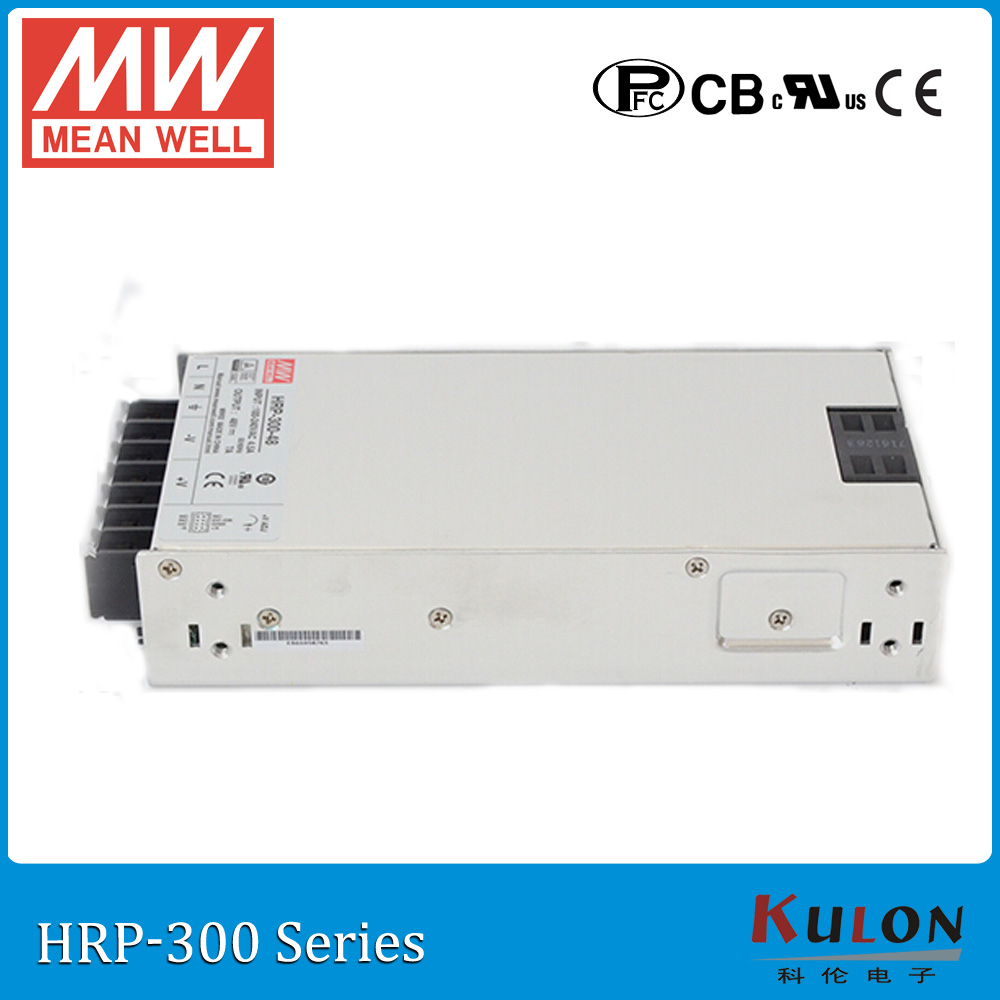 все цены на Original MEAN WELL HRP-300-5 single output 300W 60A 5V meanwell Power Supply HRP-300 with PFC function онлайн