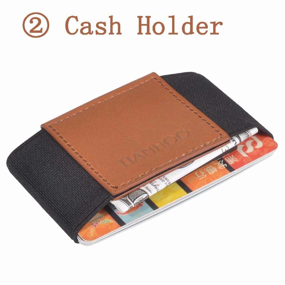 código promocional 9403d 4139e Cartera delgada minimalista para hombre, tarjetero, Mini billeteras,  tarjetero de cuero Real, organizador de tarjetas de identificación,  tarjetero a ...