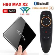 h96 max x2 Google Voice Control Android 8.1 Amlogic S905X2 Smart TV BOX 4GB 64GB 2.4G & 5.8G Wifi Bluetooth 4K 3D Set top tv box h96 max smart tv box android 9 0 google voice assistant 4gb 64gb 3d 4k wifi bluetooth iptv subscription set top box media player