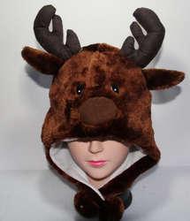 Куртка-бомбер Hat мультфильм животных Hat пушистые плюшевые Кепки маска зимние вечерние/Рождественский подарок