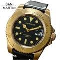 San Martin Men Vintage Bronze Watch Automatic diving Watch 300 Water Resistant Bronze Bezel Retro Wristwatch Relojes Hombre2018