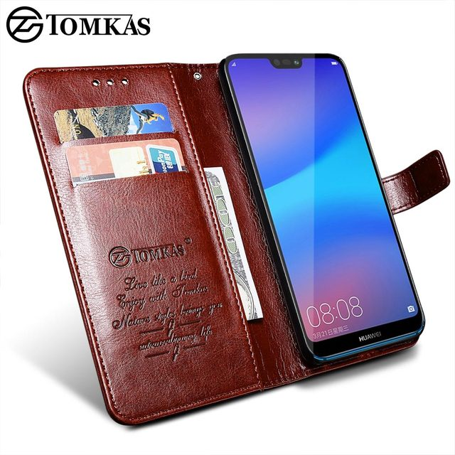 detailed look 668c8 cfb90 US $4.39 45% OFF|Aliexpress.com : Buy TOMKAS Wallet Case For HUAWEI P20  Lite Flip Coque Leather With Stand Phone Bag Case Cover For Huawei P20 Lite  ...