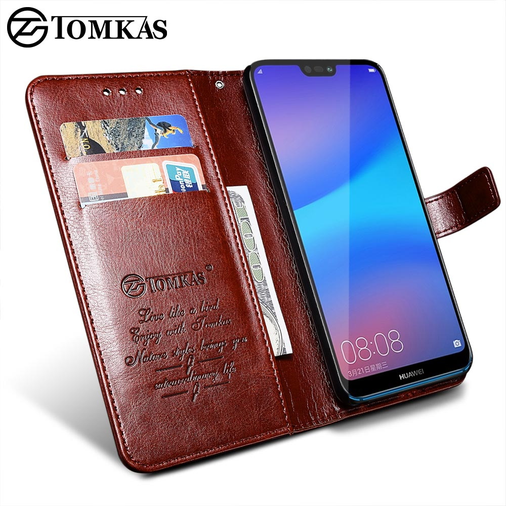 TOMKAS Wallet Case For HUAWEI P20 Lite Flip Coque Leather With Stand Phone Bag Case Cover For Huawei P20 Lite Cases P20 P20 Pro