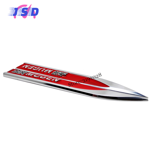 Online Shop D Car Side Fender Stickers For Mugen Logo Metal Blade - Stickers for honda accord