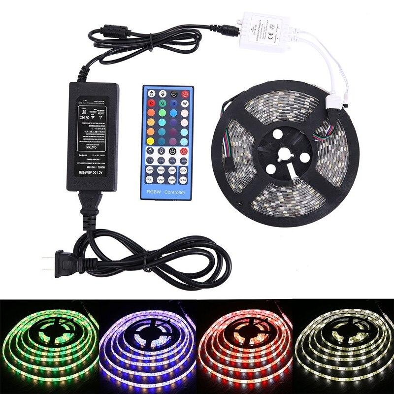 5M DC 12V LED Strip Light 5050 SMD 300-LED Super Bright Flexible LED Light String Tape Color-changingwith Remote Control