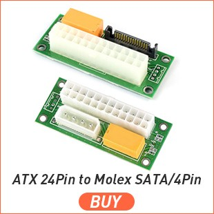 ATX 24Pin to Molex SATA 4Pin