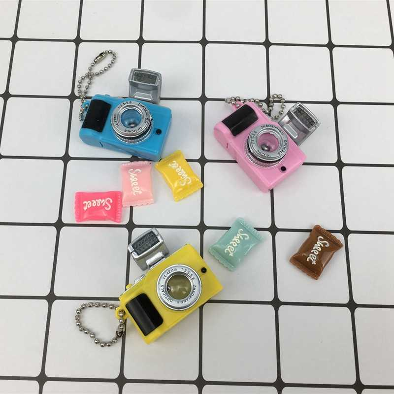 1/6 BJD SD ตุ๊กตาอุปกรณ์เสริม Emulation กล้องพวงกุญแจเรืองแสงเสียงเหมาะสำหรับตุ๊กตา 30 ซม.ตกแต่ง DIY ของเล่นเด็กของขวัญ