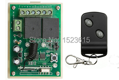 DC12V 2CH wireless remote control switch teleswitch Receiver Transmitter ON OFF Switch Learning code Toggle Momentary