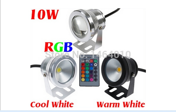 10W 12V RGB Cool White Warm White LED Underwater Light Lamp IP68