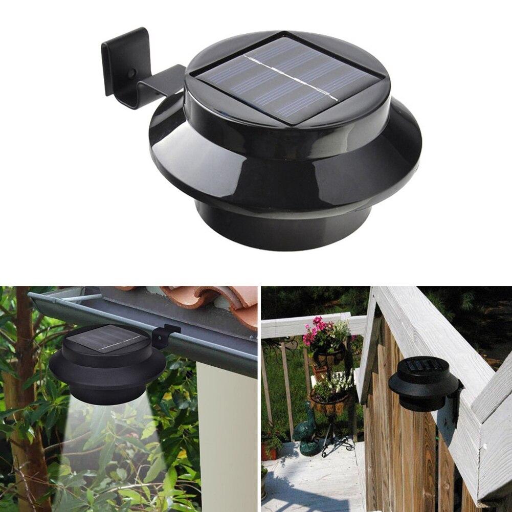 4 Pack 3-LED Outdoor Light Solar Panel Lamp LED bulb LED Solar Lamp Solar Power LED Light for Street Garden Fence Eave