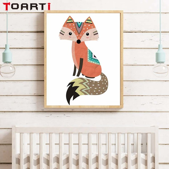 Fox Home Decor D House Drawing - Painted fox home