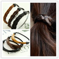 6 unids Estilo de Moda de Corea Peluca Cuerda Del Pelo Venda de los Accesorios Vendas Elásticos Del Pelo de la Trenza hairpeice Ponytail