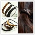 6pcs Fashion Korean Style Wig Rope Hair Band Accessories Elastic Hair Bands Braid hairpeice Ponytail