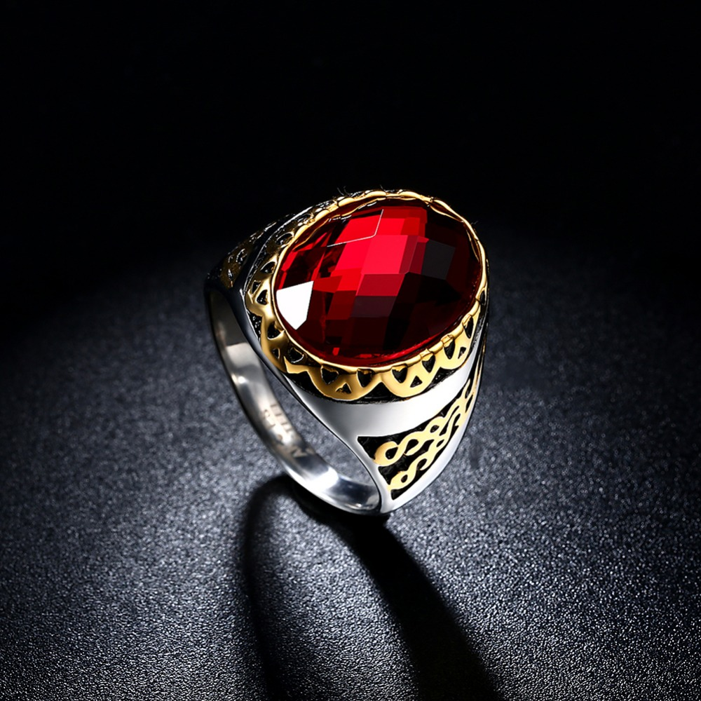 1 585 gold jewelry ruby gold ring oval