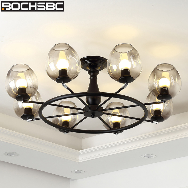 Adroit Bochsbc Modern Magic Bean Glass Lampshade Pendant Lights Fixtures 8 Heads Branch Hanging Lamp For Living Room Dinning Room Lamp Sufficient Supply