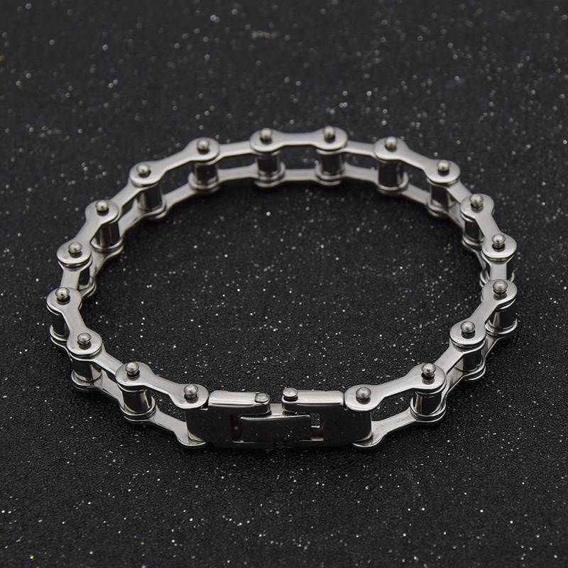 fashion lychee Biker Bicycle Motorcycle Chain Bracelet Bangls