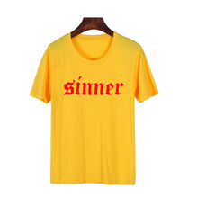 Skuggnas Sinner T Shirt Women Cotton Harajuku Crewneck Summer T-Shirt Grunge Black Metal Rock Tshirt Camisetas aesthetic clothes