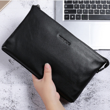 BAQI Brand Men Wallet Clutch Bag Genuine Leather Cowhide High Quality 2019 Fashion Purse Card Holder Men Handbag Ipad Phone Bag p kuone genuine leather clutch bag 2018 fashion high quality top men wallets luxury brand purse messenger handbag long wallet