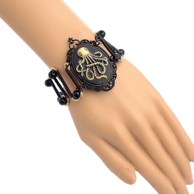 Isinyee 2017 octopus tier charme steam punk armband schwarz ...