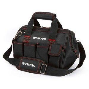 Image 2 - حقيبة أدوات WORKPRO 600D إغلاق واسع الفم حقائب كهربائي S M L XL للاختيار
